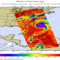 Hurricane Florence: Infrared Image Shows Its Growing Size