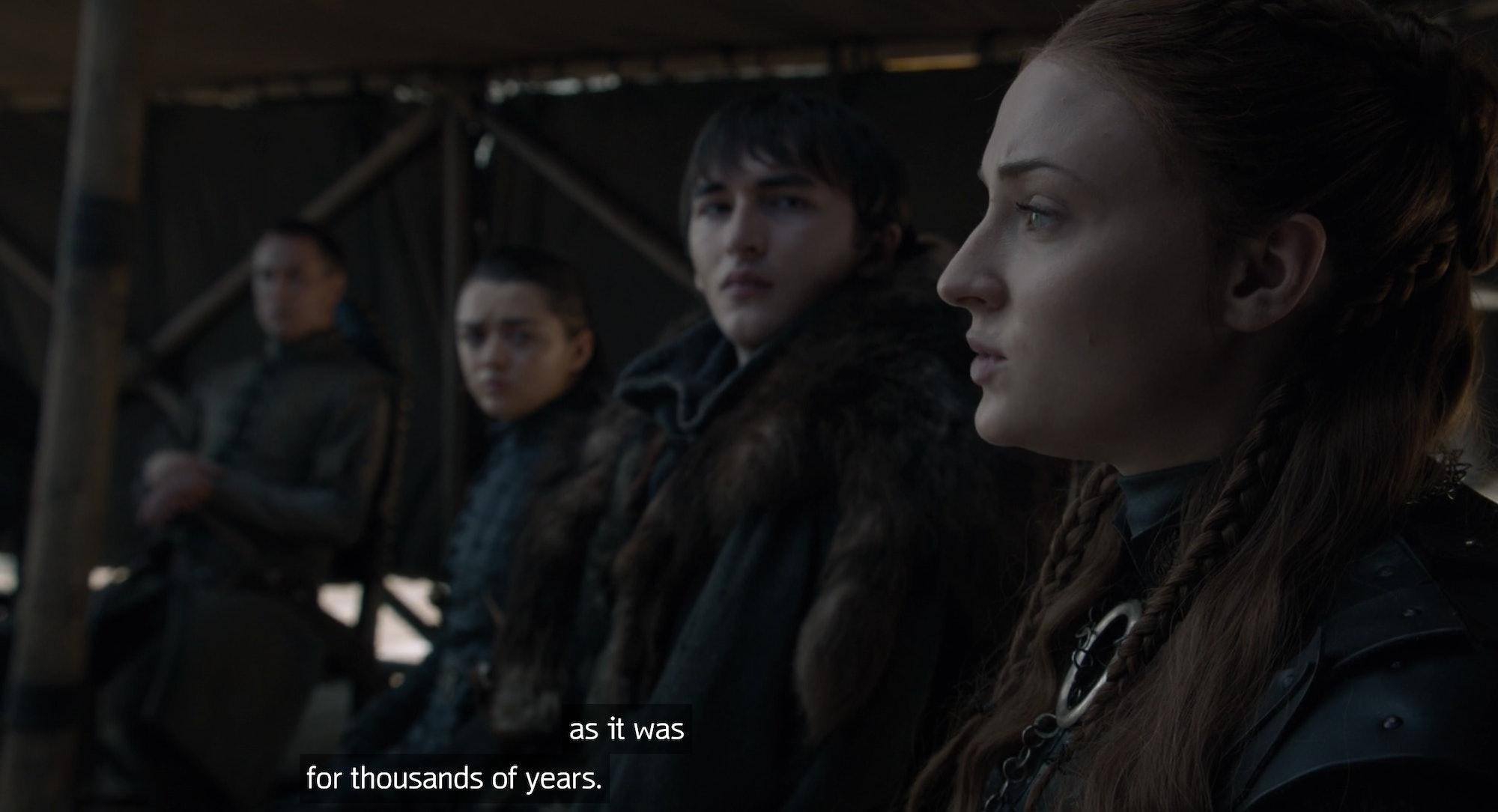 Sophie Turner in Game of Thrones series finale
