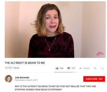 Borowski as she appears on her Youtube channel.
