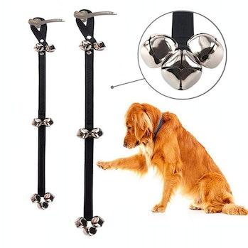 Dog Doorbells Premium Quality Training Potty Great Dog Bells Adjustable Door Bell Dog Bells for Potty Training Your Puppy the Easy Way - Premium Quality - 7 Extra Large Loud 1.4 DoorBells by papikin