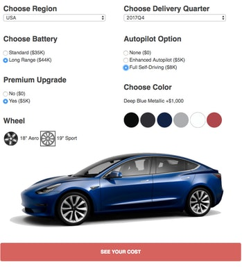 This Online Tool Reveals the Tesla Model 3's Real Price