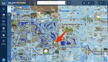 trump national doral seal level rise map