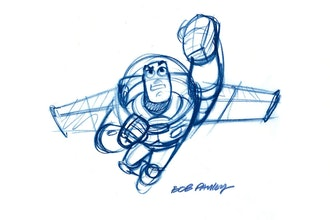 Buzz Lightyear ''Buzz'' Framed Giclée on Paper by Bob Pauley