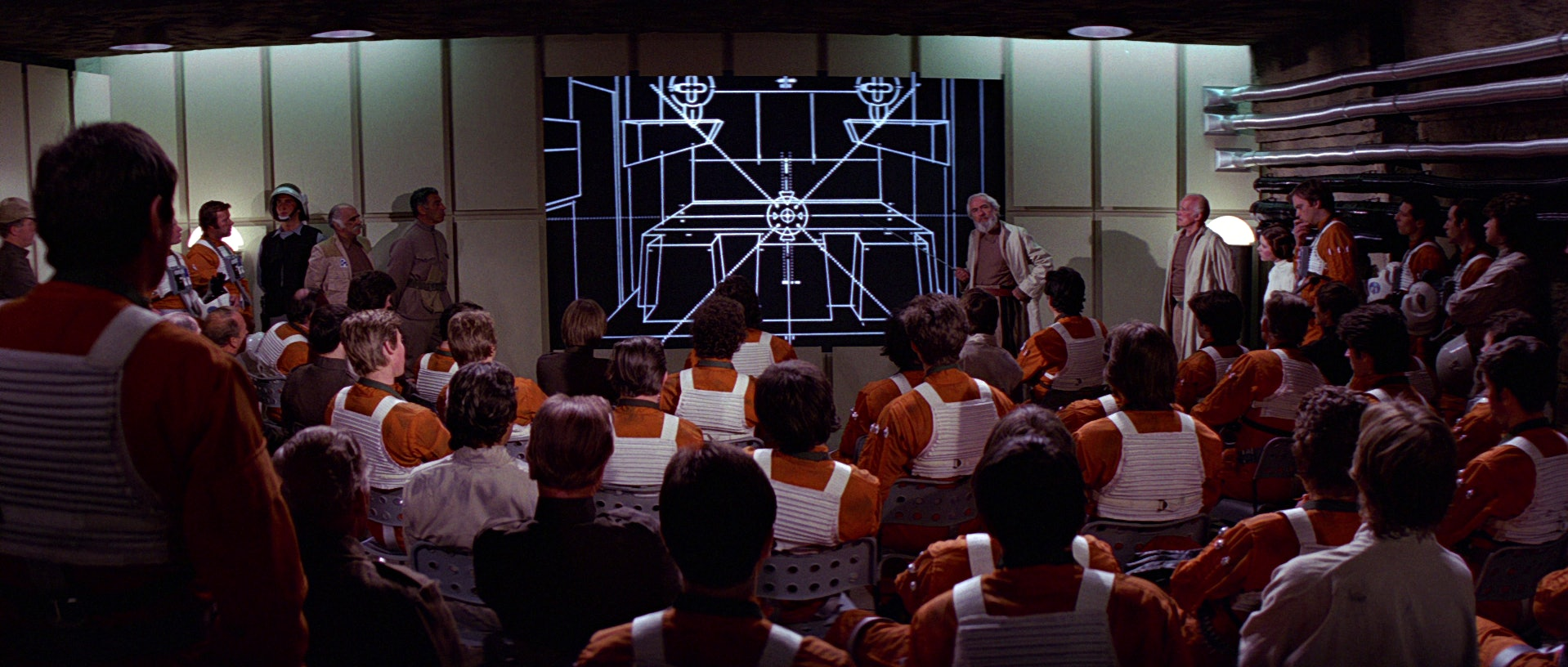 The Death Star plans reveal a design flaw in 1977
