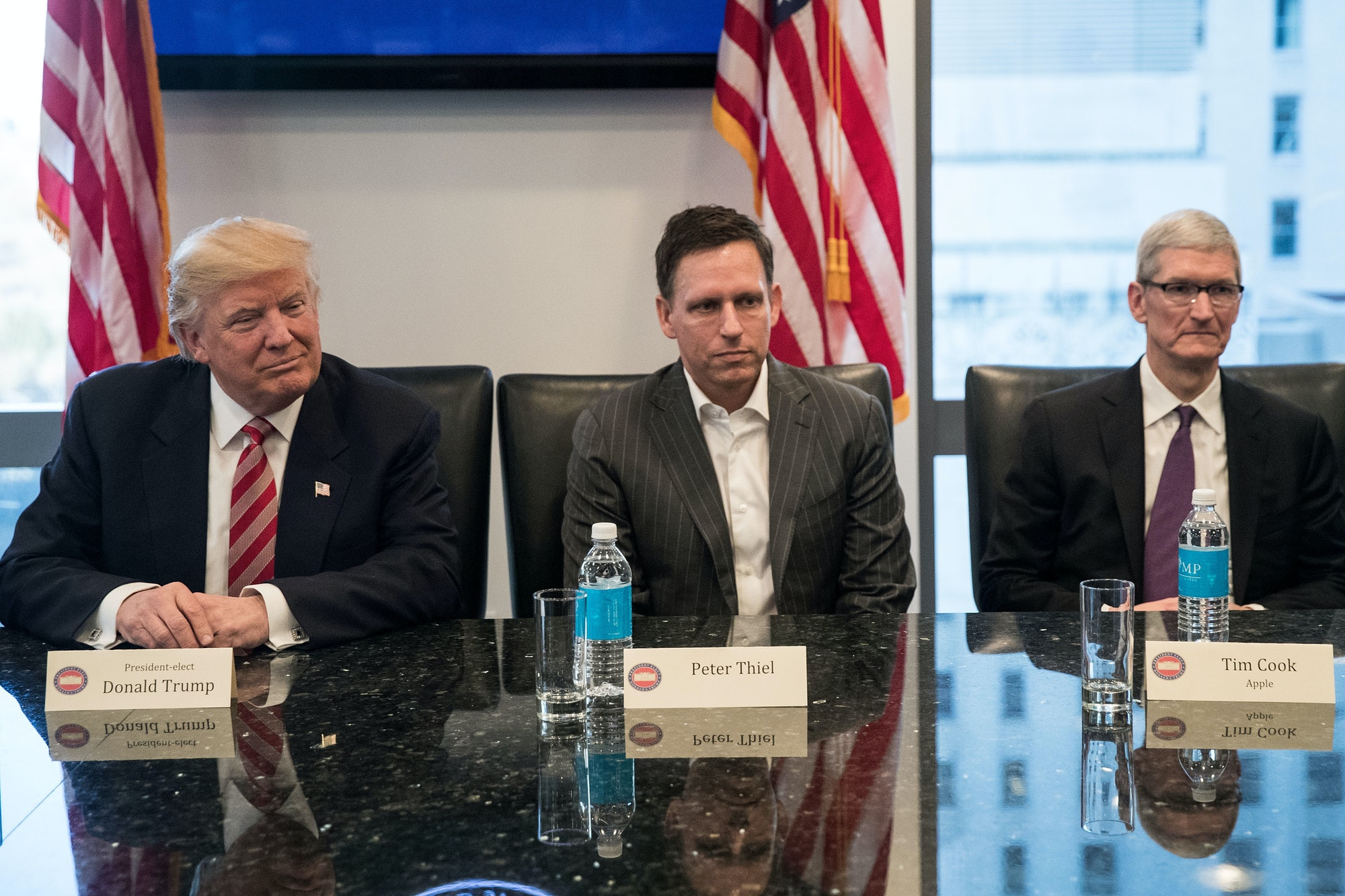 Trump's December meeting with tech CEOs.
