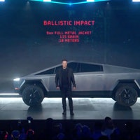 """Tesla Cybertruck pics, price: """"Doesn't look like anything else,"""" Musk says."""