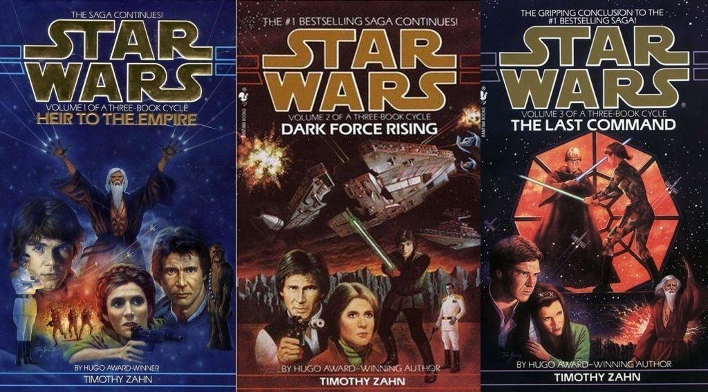 Original covers for the 'The Thrawn Trilogy'