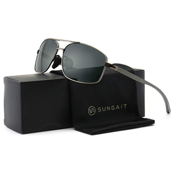 SUNGAIT Ultra Lightweight Rectangular Polarized Sunglasses UV400 Protection