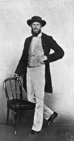 Portrait of Alfred Russel Wallace taken in Singapore in 1862.