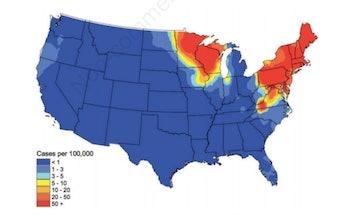 lyme disease maps