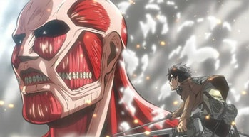 Eren has his very first encounter with the Colossal Titan.