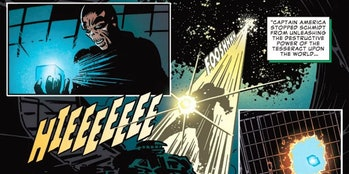 """Red Skull's """"death"""" in the comic."""
