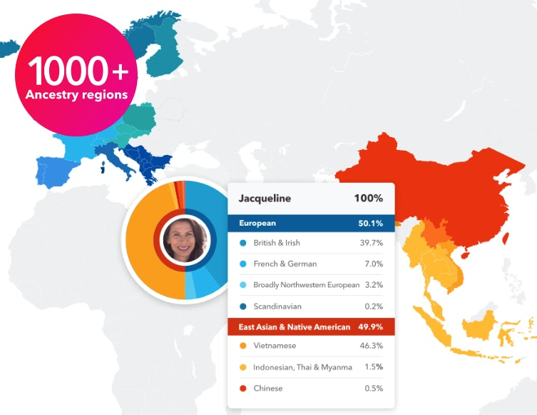 Comprehensive ancestry results with 23andMe