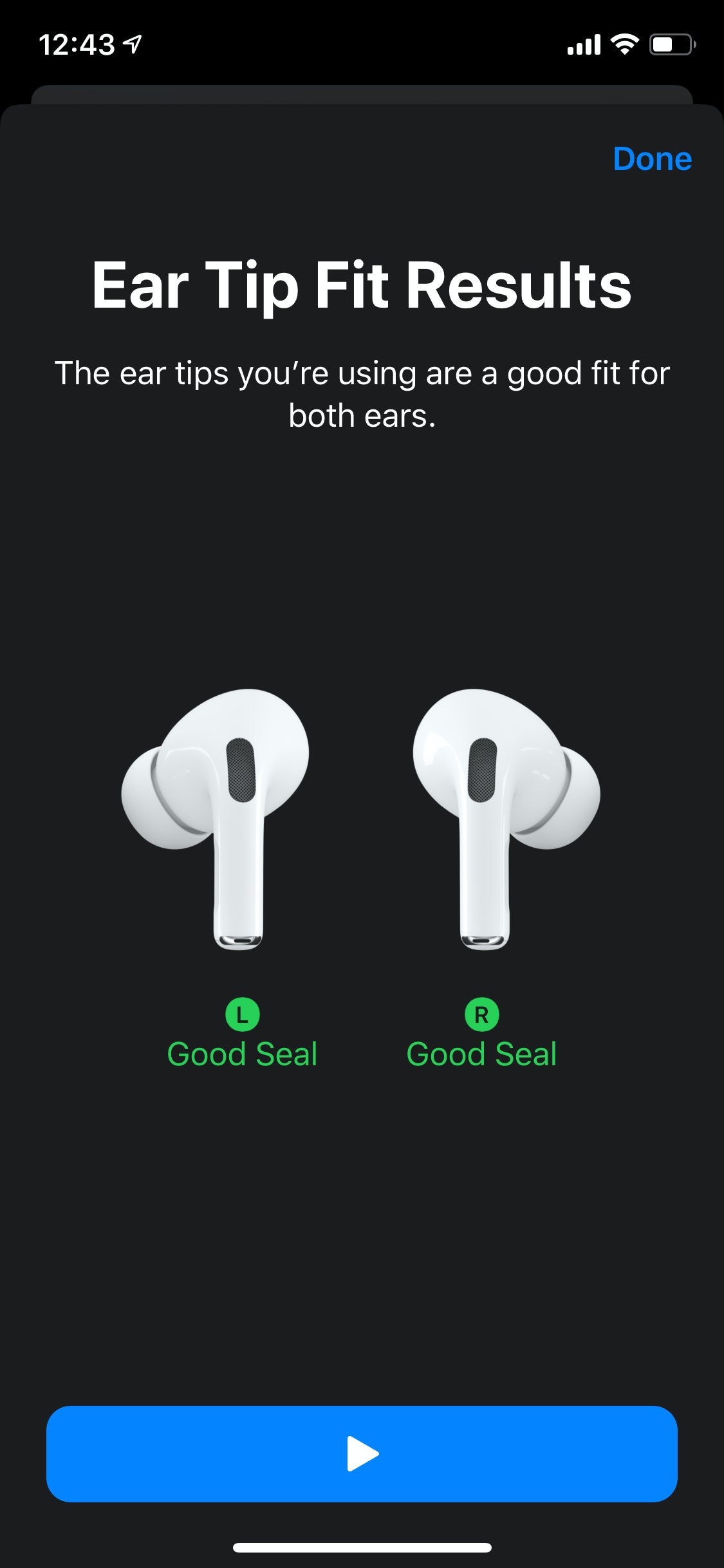 Apple AirPods Ear Tip Fit test