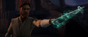 Obi-Wan with the Dagger of Mortis