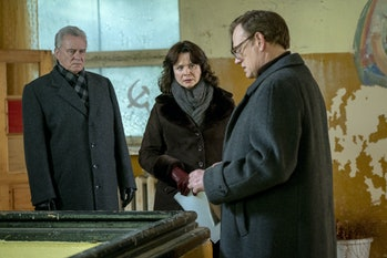 On the far right is Jared Harris, who playsValery Legasov.