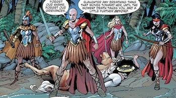 Could Diana best four powerful Amazon warriors?