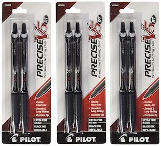 Pilot Precise V5 RT Retractable Rolling Ball Pens - 6 Pack