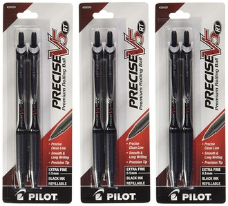 Pilot Precise V5 RT Retractable Rolling Ball Pens - 6 Pack