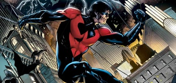 No word on whether Nightwing will wear red and black, or black and blue.