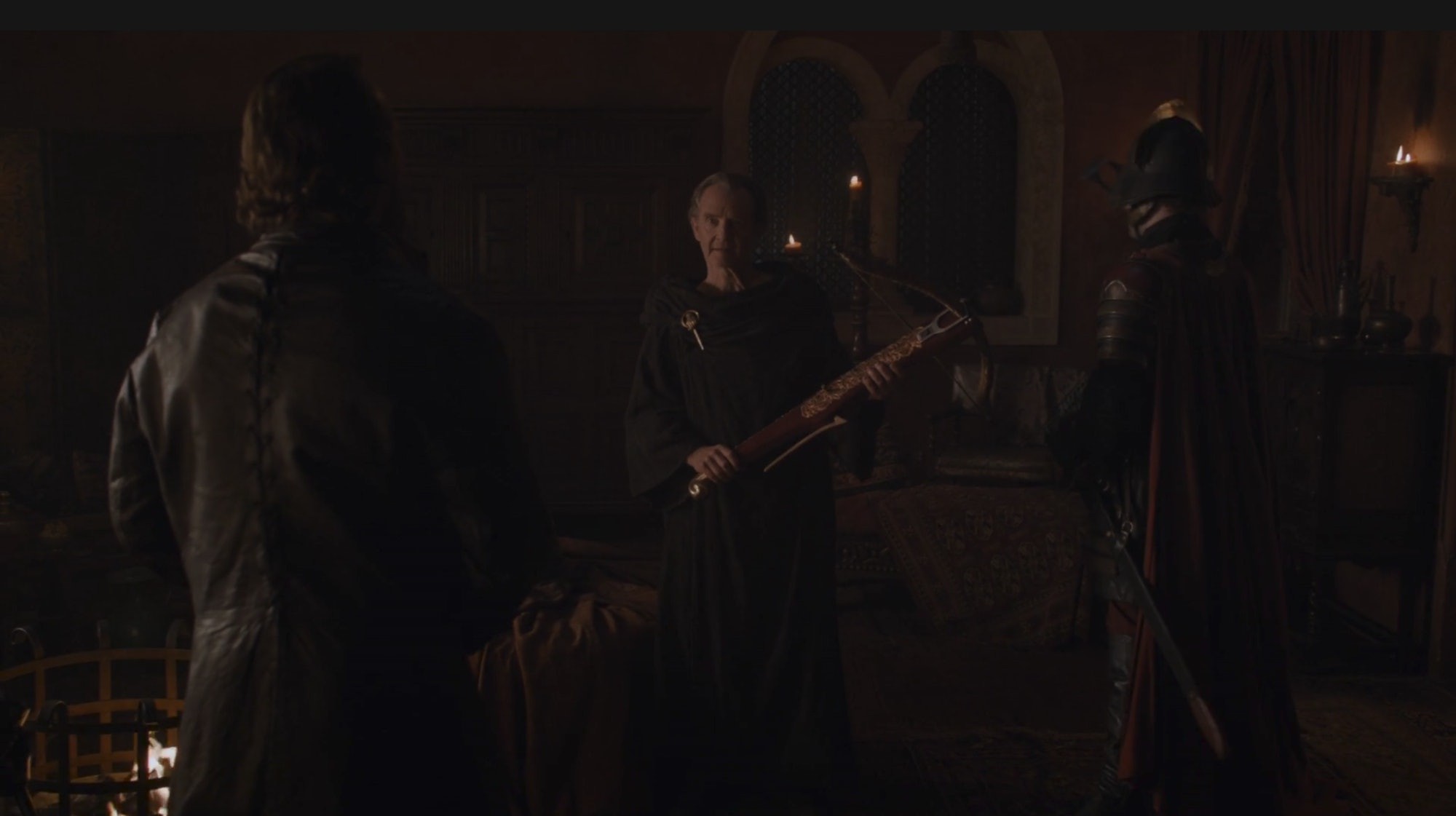 Qyburn gifts Bronn with Tyrion's crossbow in 'Game of Thrones' in Season 8