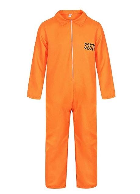Famajia Men's Prisoner Jumpsuit Halloween Adult Costume