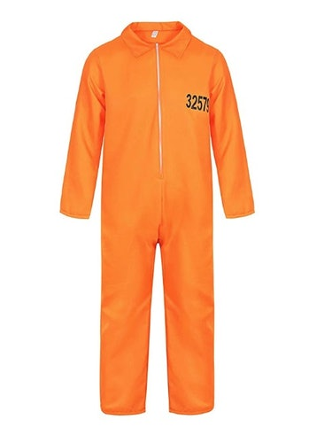 Famajia Men's Prisoner Jumpsuit Halloween Adult Costume