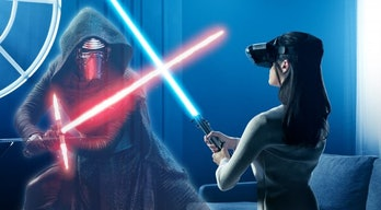 Fighting Kylo Ren in 'Jedi Challenges' isn't easy.
