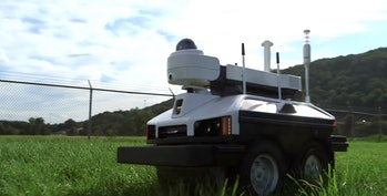 Sharp INTELLOS A-UGV smart drone unmanned ground vehicle patrol weed pot jazz cabbage devil's lettuce