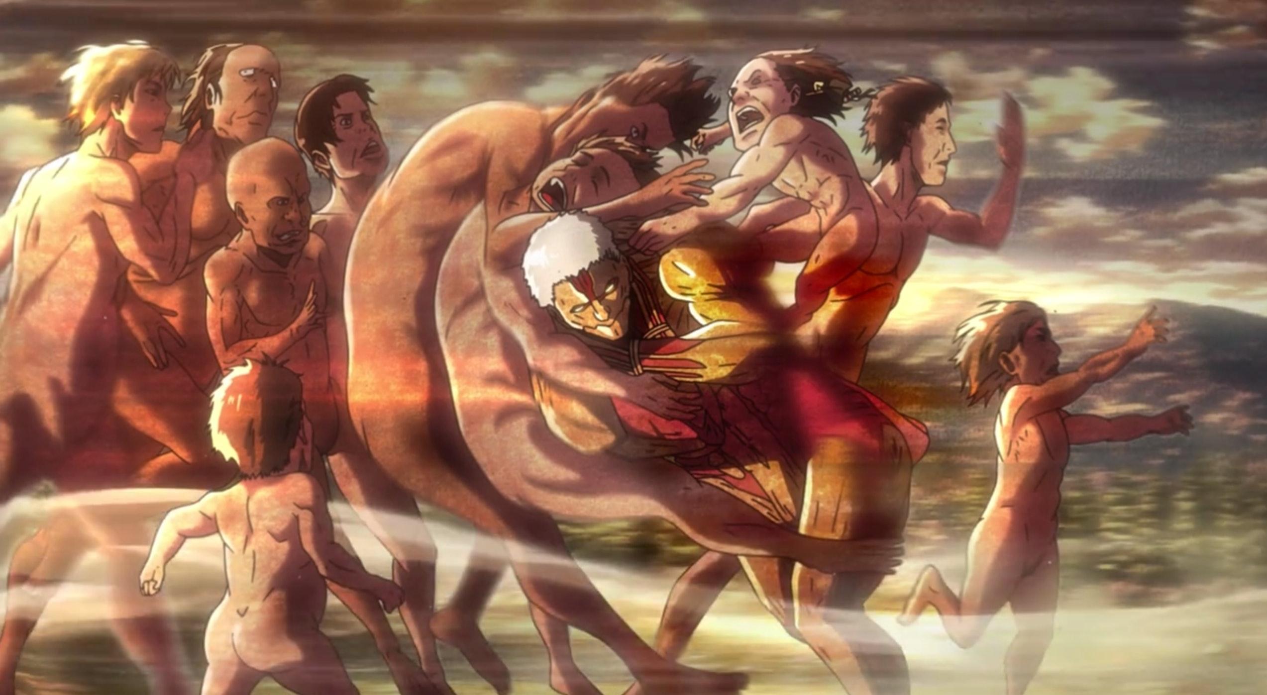 attack on titan eren vs armored titan