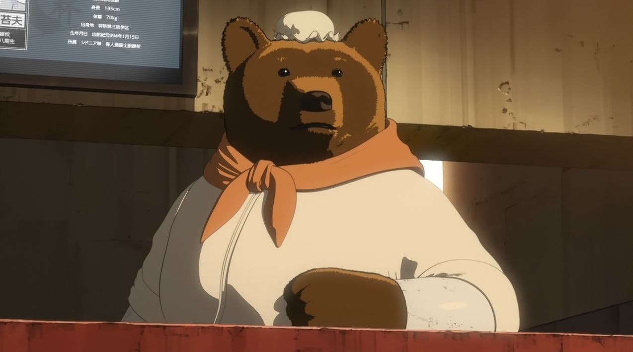 In a dark, spacefaring future, some people cyberize into anthropomorphic momma bears.