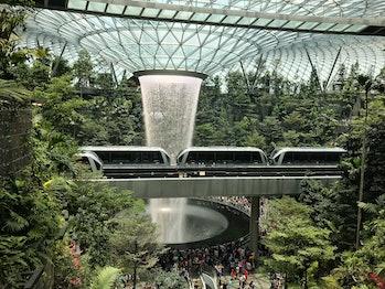 Mass transit in Singapore.
