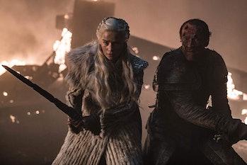 Emilia Clarke and Iain Glen on HBO's 'Game of Thrones' Season 8