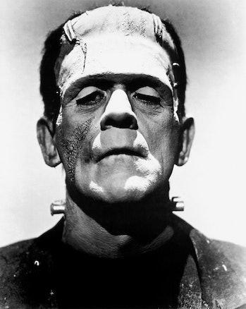 Actor Boris Karloff as Frankenstein's monster, 1935.