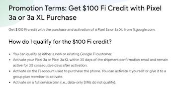 google fi pixel 3a xl deal
