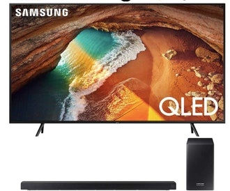 "Samsung QN82Q60RA 82"" Q60 QLED Smart 4K UHD TV (2019 Model) with Samsung HWQ60R Soundbar w/Wireless Subwoofer"