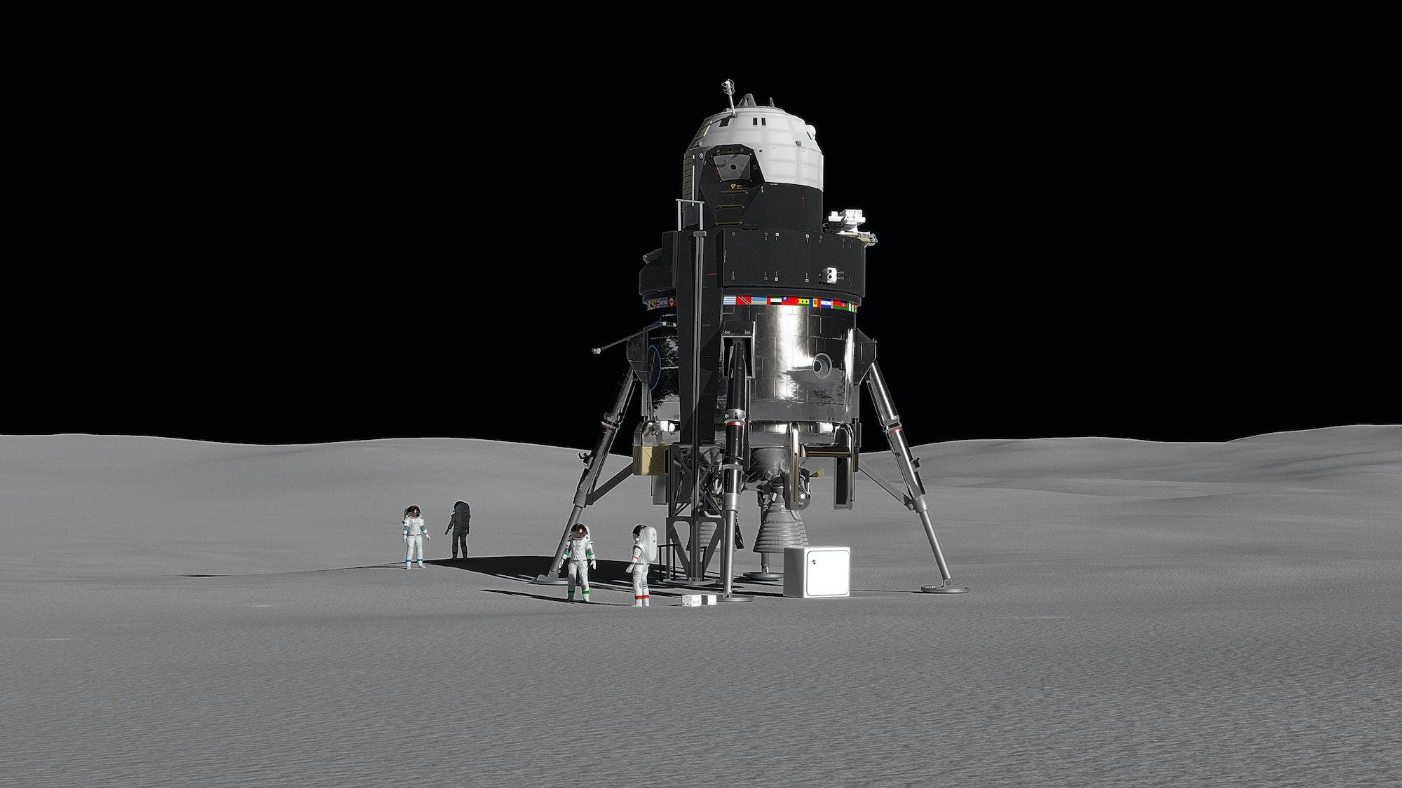 Artist's rendition of Lockheed Martin's lunar lander