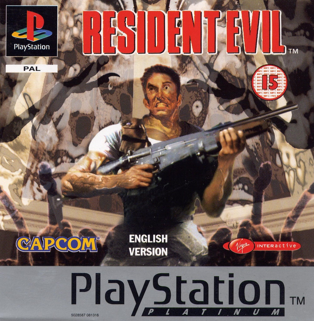 A cover of the original 'Resident Evil' game.