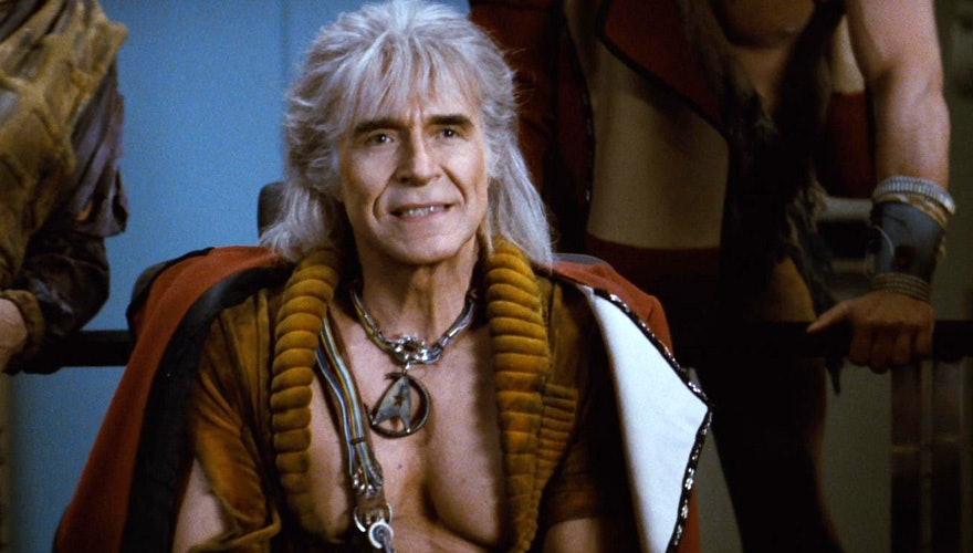 Ricardo Montalbán as Khan in 'Star Trek II: The Wratch of Khan'.