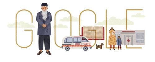 On Tuesday, the Google doodle honoredAbdul Sattar Edhi, a Pakistani philanthropist.