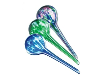 Aqua Globes Mini Plant Watering Glass Bulbs: 3-Pack