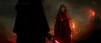 Padmé brandished a knife in early drafts of her final confrontation with Anakin.