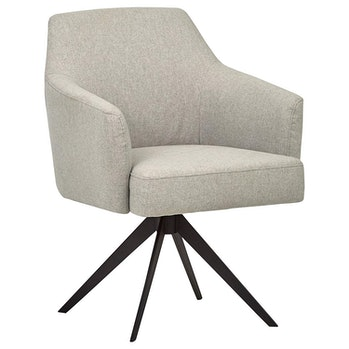 Rivet Mid-Century Swope Curved Arm Swivel Office Chair