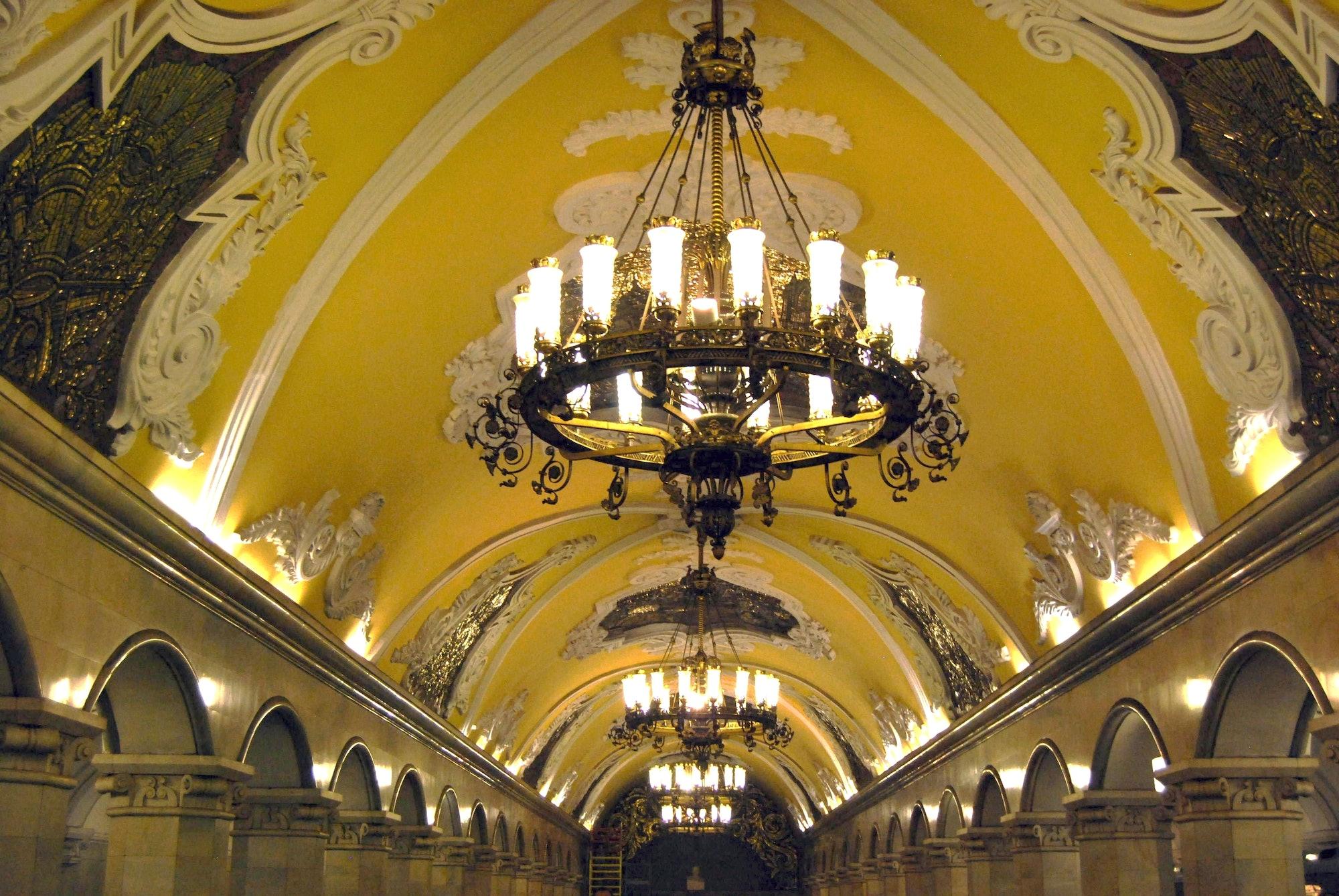 Komsomolskaya Metro Station, Moscow, Russia