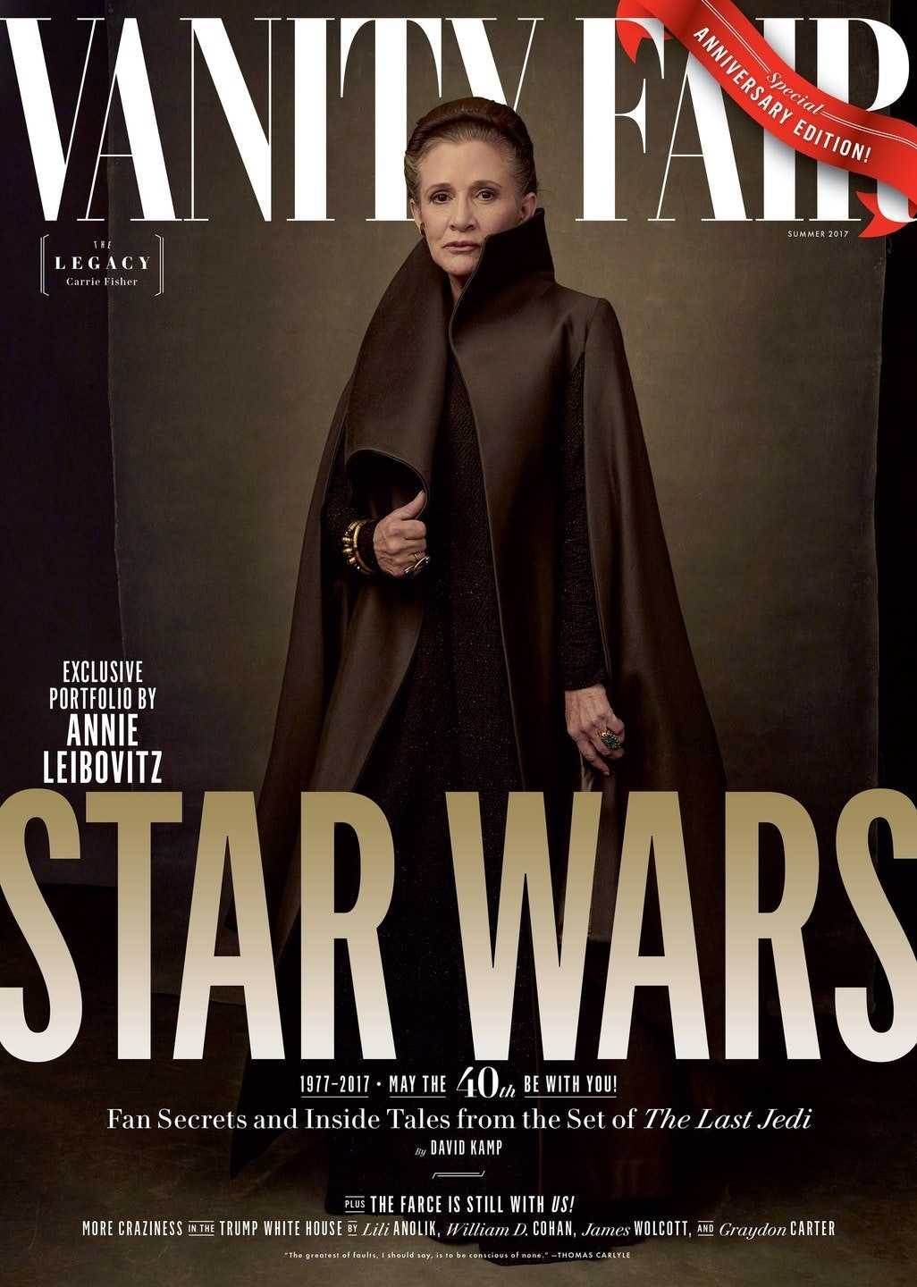 Leia (Carrie Fisher), the Princess, Rebel, and General.