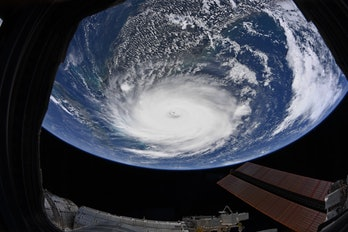 A view of Hurricane Dorian captured by astronaut Christina Koch from on board the ISS.