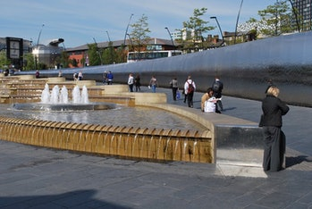 people, fountain