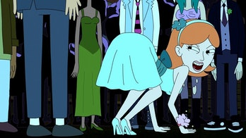 """Jessica presents herself to Morty while under the influence of Rick's """"love potion""""."""