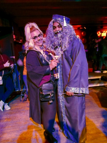 Dana Martinez and Malik Fulwood at Wizard U. in NYC