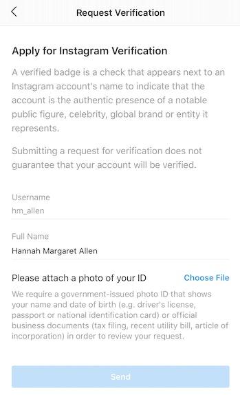 Instagram verification guide